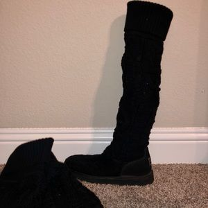 Black tall UGG boots size 8